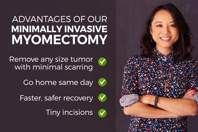Advantages of our Minimally Invasive Outpatient Myomectomy