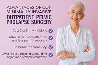Outpatient Minimally-Invasive Pelvic Prolapse Surgery
