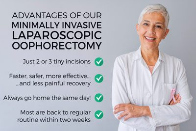 Advantages of our Minimally Invasive Outpatient Oophorectomy