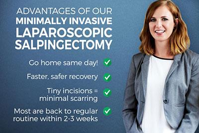 Advantages of our Minimally Invasive Outpatient Minimally-Invasive Salpingectomy Surgery